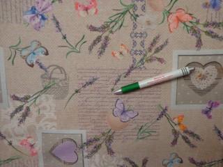 Loneta, színes pillangós, levendulás kerti bútor vászon (10856)