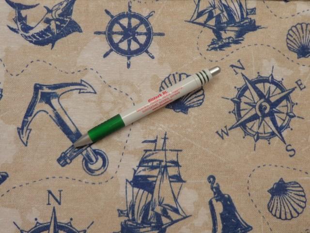 Loneta, kagylós, horgonyos, hajós kerti bútor vászon (10866)