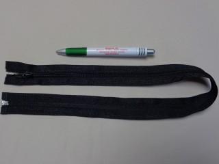 RT-10, 60 cm hosszú spirál fogú cipzár, fekete (10968)