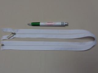 RT-10, 65 cm hosszú spirál fogú cipzár, fehér (10969)