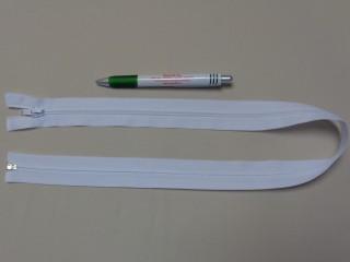 RT-10, 70 cm hosszú spirál fogú cipzár, fehér (10971)