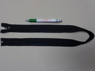 RT-10, 70 cm hosszú spirál fogú cipzár, fekete (10972)