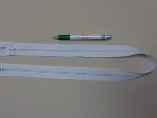 RT-10, 75 cm hosszú spirál fogú cipzár, fehér (10973)