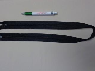 RT-10, 75 cm hosszú spirál fogú cipzár, fekete (10974)