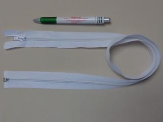RT-10, 80 cm hosszú spirál fogú cipzár, fehér (10975)