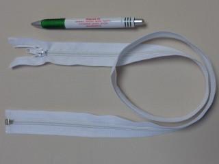 RT-10, 85 cm hosszú spirál fogú cipzár, fehér (10977)