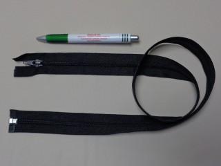 RT-10, 85 cm hosszú spirál fogú cipzár, fekete (10978)