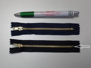 VT-0, 12 cm-es fém cipzár, fekete (10980)