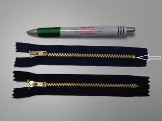 VT-0, 14 cm-es fém cipzár, sötétkék (10981)