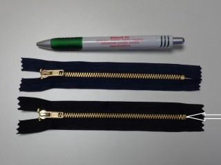 VT-0, 14 cm-es fém cipzár, fekete (10982)
