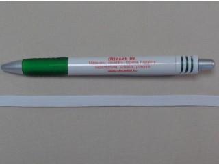 0,6 cm-es gumiszalag, fehér (10986)