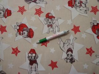 Loneta, kutyás-csillagos kerti bútor vászon (11024)