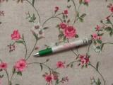 Loneta, rózsás-indás kerti bútor vászon (11026)
