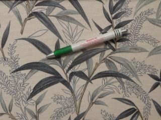 Loneta, ekrü alapon szürke leveles, kerti bútor vászon (11027)