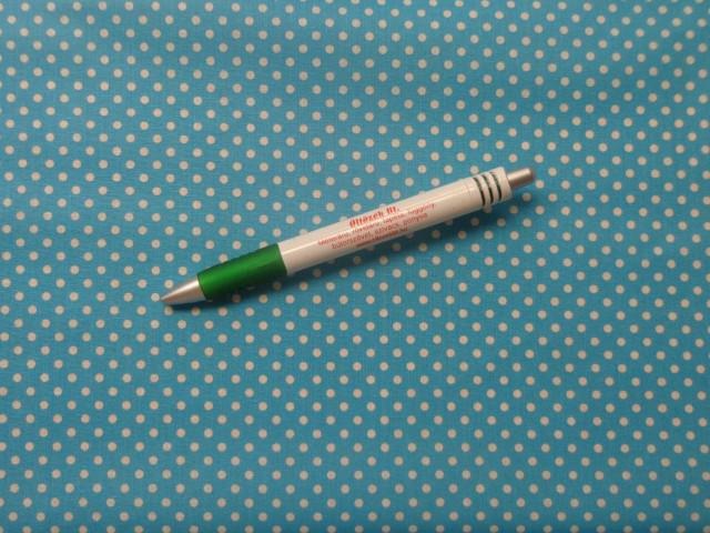 Mintás pamutvászon, türkiz alapon fehér apró pöttyös (11035)