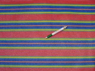 Nyugágyvászon, piros-türkiz-sárga-kék-narancs csíkos, 45 cm széles (11040)