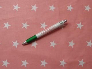 Mintás pamutvászon, sötét rózsaszín alapon, fehér csillagos (11055)