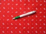Mintás vászon, kékfestő mintás, piros (11057)