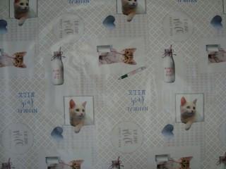 Viaszos vászon, cicás,tejesüveges (11087)