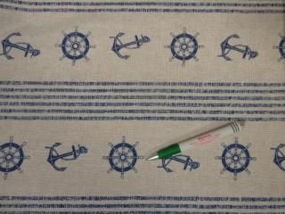 Loneta, csíkos, tengerész mintás kerti bútor vászon (11099)