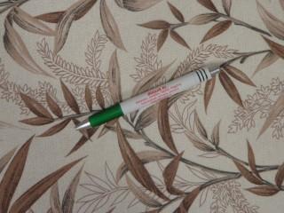 Loneta, ekrü alapon barna leveles, kerti bútor vászon (11110)