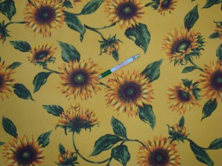 Vízlepergető asztalterítő -  kerti bútor vászon, napraforgós (11116)