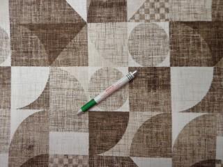 Loneta, ekrü-barna körös-kockás, kerti bútor vászon (11137)