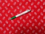 Mintás vászon, piros alapon fehér virágos (11157)