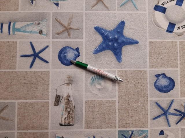 Loneta, tengerész mintás kerti bútor vászon (11238)