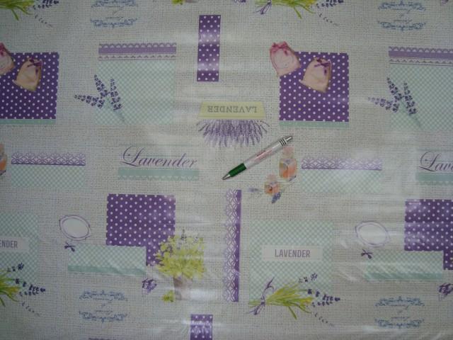 Viaszos vászon, levendulás, lila-türkiz színben (11251)