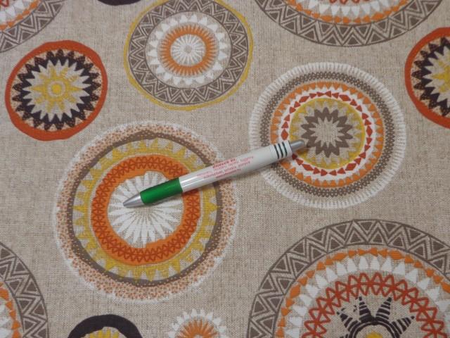 Loneta, szürke alapon barna mandalás kerti bútor vászon (11260)