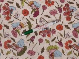 Gyerekmintás pamutvászon, virágos-tündéres (11274)