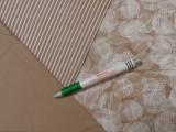 240 cm széles pamutvászon, drapp-fehér mintás (11334)