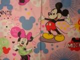 240 cm széles pamutvászon, rózsaszín alapon Minnie, Mickey (11336)