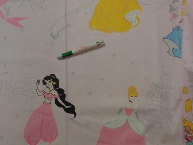 240 cm széles pamutvászon, rózsaszín alapon hercegnők (11341)