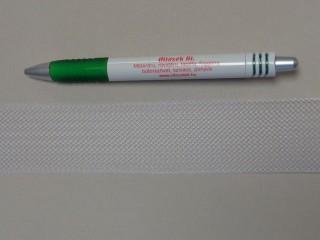 Lószőr szalag, fehér, 35 mm széles (11430)