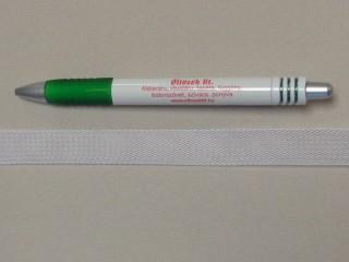 Lószőr szalag, fehér, 15 mm széles (11431)