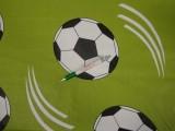 Gyerekmintás pamutvászon, zöld alapon nagy focilabdás (11479)
