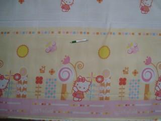Hello Kitty mintájú voile függöny , 220 cm magas (11535)
