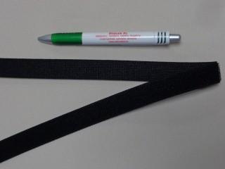 Elasztikus tépőzár, 2 cm széles, fekete (11572)