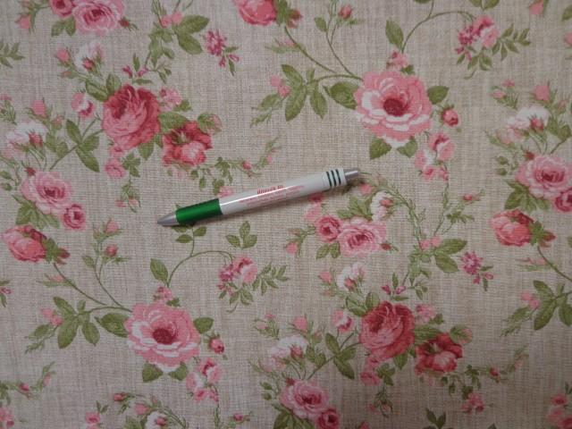 Loneta, drapp alapon rózsaszín rózsás, kerti bútor vászon (11614)