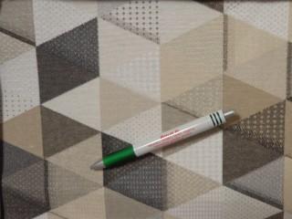 Loneta,ekrü-drapp-szürke háromszöges, kerti bútor vászon (11620)