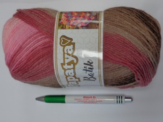 Papatya Batik fonal, rózsaszín-barna (11660-554-26)