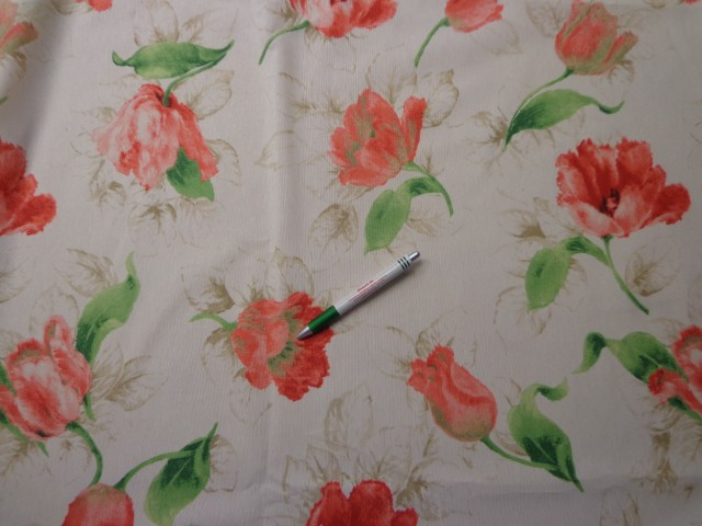 Loneta, tulipános, kerti bútor vászon (11670)