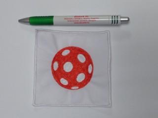 Ovis jel, pöttyös labda, piros, 10x10 (11681)