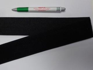 Elasztikus tépőzár, 5 cm széles, fekete (11683)