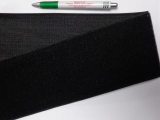 Elasztikus tépőzár, 10 cm széles, fekete (11684)
