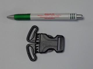 Műanyag TUK csat, 3 pontos, 25 mm -es, fekete (11685)