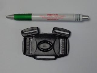 Műanyag TUK csat, 5 pontos, 25 mm -es, fekete (11686)