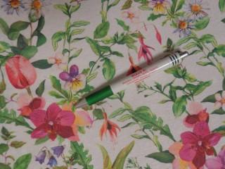 Loneta, színes, tavaszi virágos, kerti bútor vászon (11694)